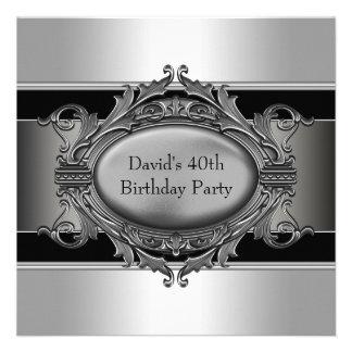 Sirve a la 40 a fiesta de cumpleaños del negro anuncios