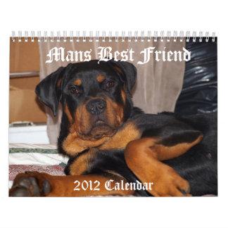 Sirve al mejor amigo calendario de pared