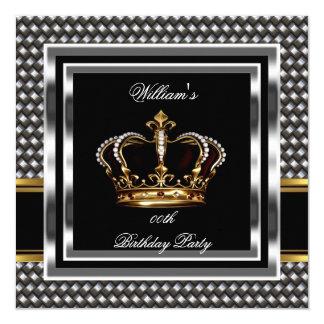"""Sirve al príncipe de plata negro elegante rey del invitación 5.25"""" x 5.25"""""""