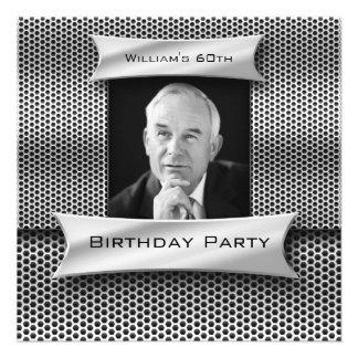 Sirve cumpleaños negro del metal plateado del vint comunicado personal