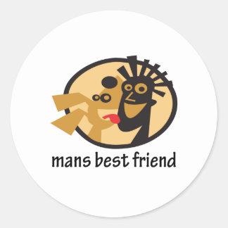 Sirve diseño del mejor amigo etiquetas redondas