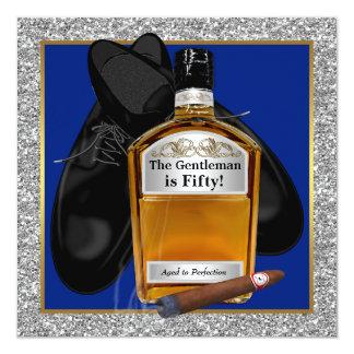 """Sirve el whisky envejecido a la fiesta de invitación 5.25"""" x 5.25"""""""
