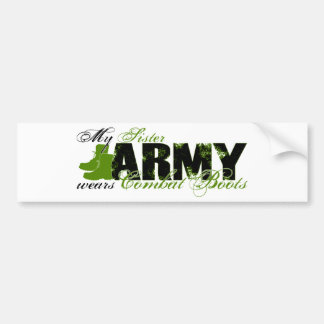 Sis Combat Boots - ARMY Bumper Sticker