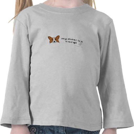 sis is a corgi tee shirts