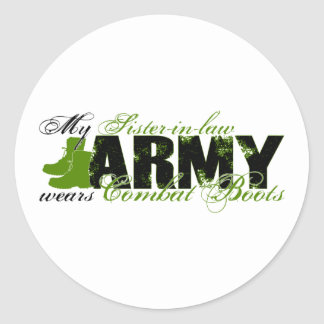 Sis law Combat Boots - ARMY Classic Round Sticker