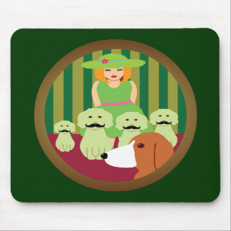 Sis P and the Mustached Dogs of Mystery Mouse Pad