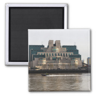 SIS Secret Service Building London And Rib Boat Magnet