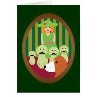 SIS y P y los perros Mustached del misterio Felicitación