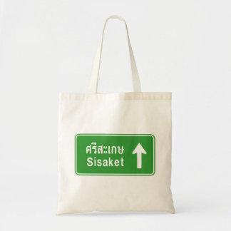 Sisaket Ahead ⚠ Thai Highway Traffic Sign ⚠ Tote Bag