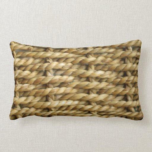 How To Make A Basket Weave Pillow : Sisal basket weave pattern lumbar pillow zazzle
