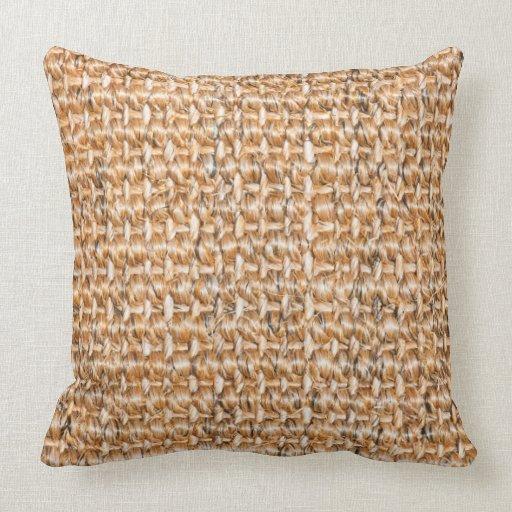 Dog Throw Up On Sisal Rug: Sisal Carpet Pattern Throw Pillow