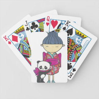 Sishu and bamboo bicycle playing cards