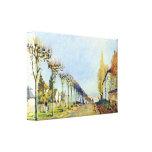 Sisley - manera de la máquina en Louveciennes Impresion En Lona