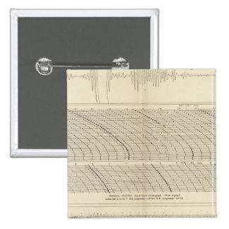 Sismogramas 13 de California Pin Cuadrado