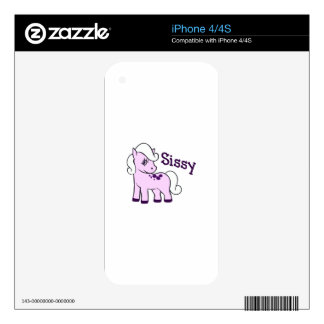 SISSY PONY DECALS FOR THE iPhone 4