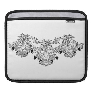 Sissy Vintage Lace Wedding Hankerchief Black White Sleeve For iPads