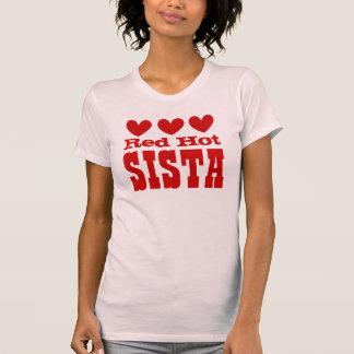 SISTA candente con los corazones ROJOS Camisetas