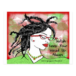 Sistah keep your head up always postcard