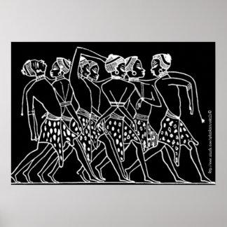 """Sistahs de las arte-Esclavitudes del vintage "" Póster"