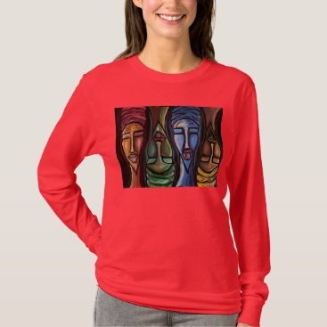 McTiffany Tiffany Aqua Sistas United Long Sleeve T-Shirt
