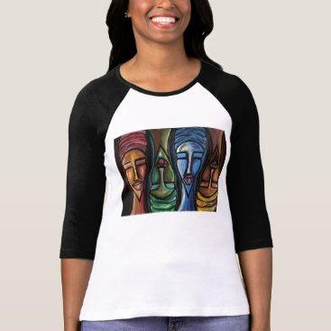 McTiffany Tiffany Aqua Sistas United Ringer T-Shirt