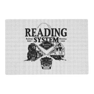 Sistema 1942 del ferrocarril de la lectura salvamanteles