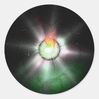 Sistema 1 pegatina redonda