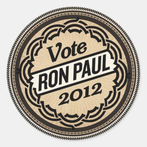 Sistema 2012 del pegatina de Ron Paul