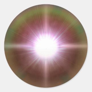 Sistema 4 pegatina redonda
