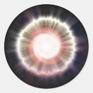 Sistema 6 pegatina redonda