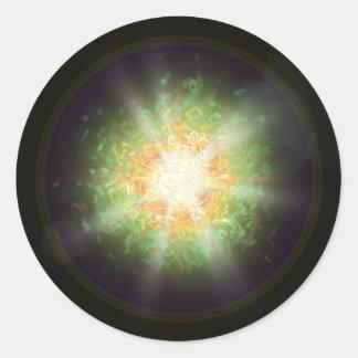 Sistema 7 pegatina redonda