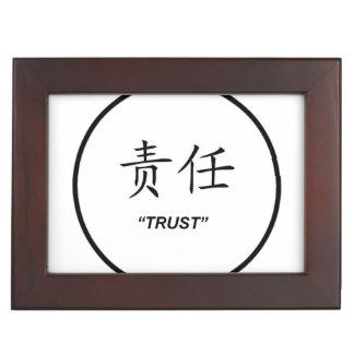 Sistema a juego de la joyería del símbolo chino de cajas de recuerdos