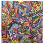 Sistema abstracto colorido tribal de la servilleta