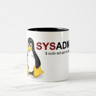 Sistema Admin de Linux Taza De Café De Dos Colores