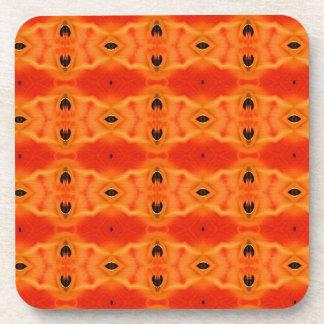 Sistema anaranjado del práctico de costa del corch posavaso