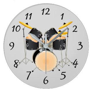 Sistema animado del tambor reloj redondo grande