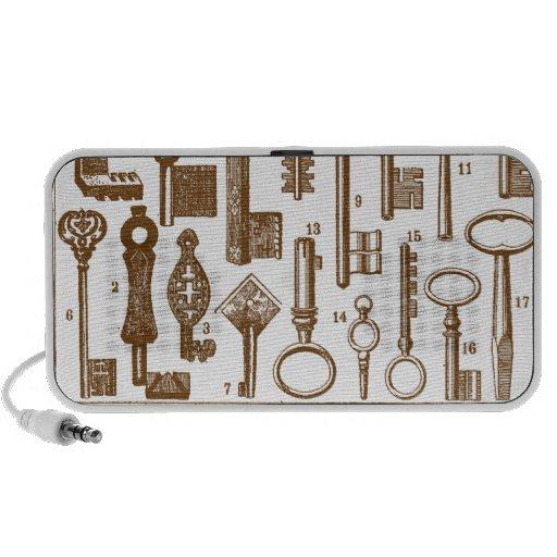 Sistema antiguo pasado de moda de la llave del vin portátil altavoz