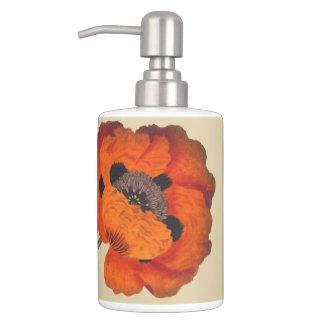 Sistema botánico del baño de las flores florales vasos para cepillos de dientes