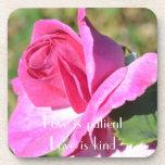 Sistema color de rosa rosado del práctico de costa posavaso