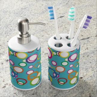 Sistema colorido del cuarto de baño de la aguamari sets de baño