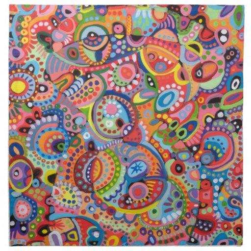 Sistema colorido enrrollado de la servilleta del