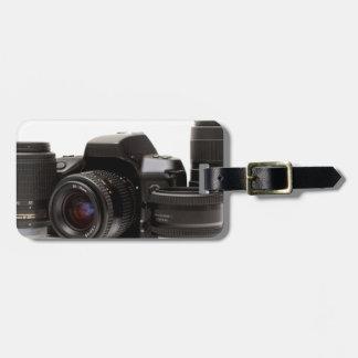sistema completo de la fotografía etiquetas maletas