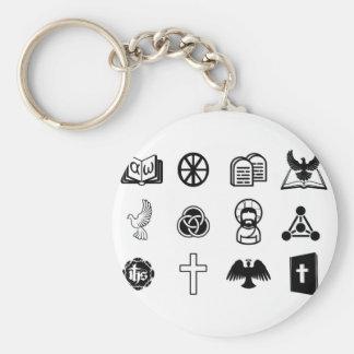 Sistema cristiano del icono llavero personalizado