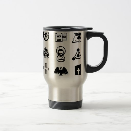 Sistema cristiano del icono taza de café