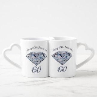 Sistema de 2 regalos del aniversario de las tazas taza amorosa