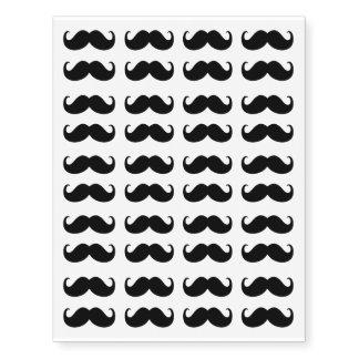 Sistema de 40 bigotes tatuajes temporales