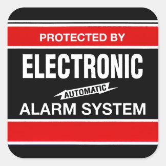 Sistema de alarma electrónico pegatina cuadrada