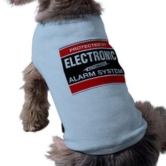 Sistema de alarma electrónico camisa de mascota