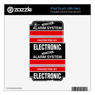 Sistema de alarma electrónico skins para iPod touch 4G