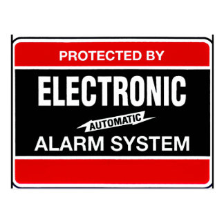 Sistema de alarma electrónico tarjeta postal